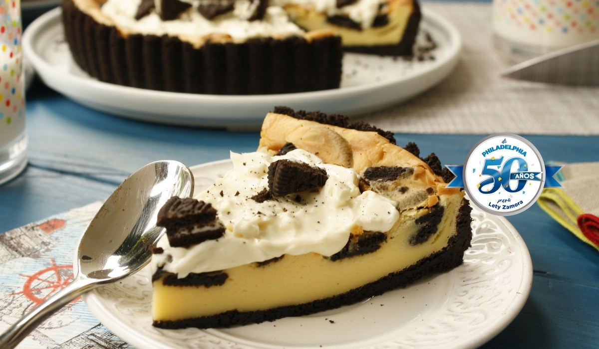 Pay de Queso Philadelphia® y Oreo®