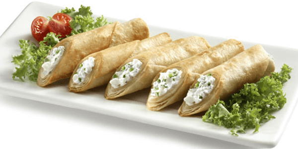Taquitos de Philadelphia Light y cilantro