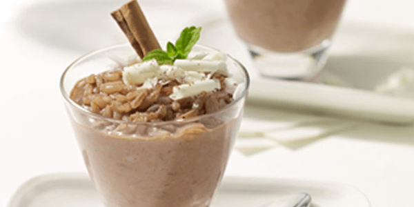 Arroz con leche de Chocolate