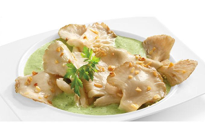 Setas en salsa verde Philadelphia Light